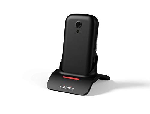 swissvoice S24 Teléfono Plegable, fácil de Usar para más Serenidad, Negro