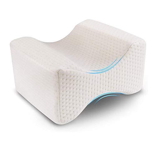 Cuscino per Ginocchia per dormire Cuscini per gambe ortopedico con schiuma memory supporto gamba schiena alleviare il dolore Ergonomico ginocchia Copertura Lavabile Tessuto in Cotone Traspirante