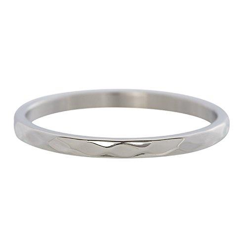 iXXXi Füllring HAMMERSCHLAGRING silber - 2 mm Größe Ringgröße 19