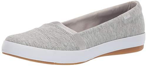 Keds Women's Carmel Jersey Sneaker, Light Grey, 8.5