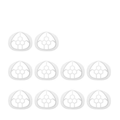 Rsoamy Soporte de mascarilla de 10 Piezas, Montaje Interior 3D para una respiración cómoda. Marco de Soporte Interno de Silicona Protección de lápiz Labial Debajo del Marco
