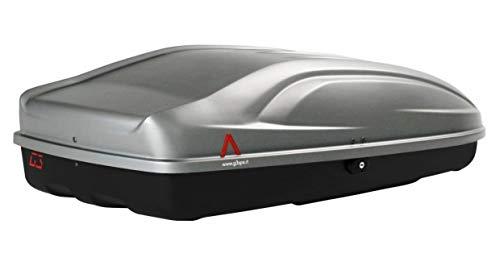 PROPOSTEONLINE Box Portatutto Portapacchi Portabagagli Baule da Tetto Auto Dimensioni 133 x 73 x 36 CM in Colore Grigio Lucido