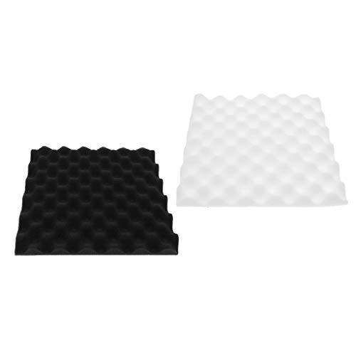 SM SunniMix 2 Piezas de Espuma Acústica Panel de Aislamiento Acústico Eggcrate Azulejos de Pared 30 X 30 Cm