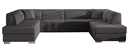 Alter GM Big U-SHAPED SOFA BED Arco-U K Seater Sleeping Function Storage Elegant Couch Many Colours 340cm 11'1'' (Grey (casablanca 2315))