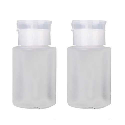 Beaupretty 2 stücke Pumpflasche Transparent Drücken Pumpspender Nagellackentferner Flasche für...