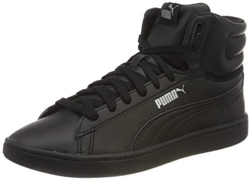 PUMA Vikky V2 Mid SL JR, Zapatillas para Niñas, Negro Black Silver White, 39 EU