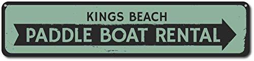 TammieLove Señal de Alquiler de Barcos Paddle, señal de Flecha de Playa Personalizada, Sign247 para Interior y Exterior, 40,6 x 10,2 cm