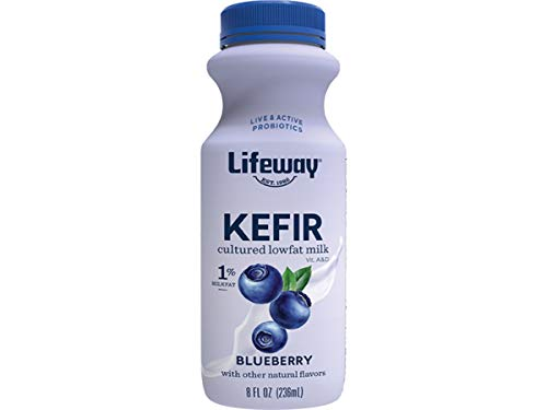 Lifeway Probiotic Low Fat Blueberry Kefir, 8 Ounce -- 6 per case.