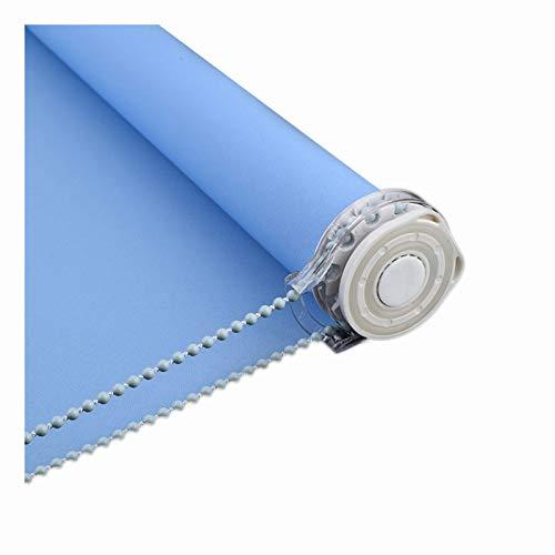 LIQICAI Estor Enrollable, Semi Cortinas Impermeables con Aislamiento Térmico para Baño, Cocina, Dormitorio, Fácil De Instalar, Tamaño Personalizado (Color : Blue, Size : 90cmX170cm)