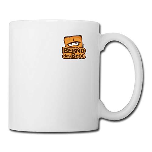 Bernd Das Brot Brustdesign Logo Tasse, Weiß