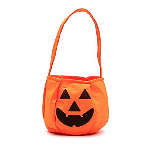 Vanthylit Halloween Candy Bags Pumpkin Treat Bags Trick or Treat Busket Candy Goodies Gift Handbag for Kids Halloween Party Favors