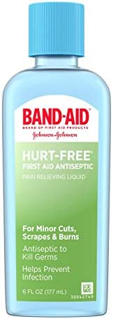Band Aid Brand First Aid Hurt Free Antiseptic Wash 6 Ounce Pack of 2 product image
