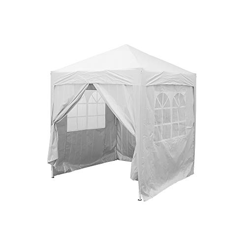 elevenfurniture Pop Up Gazebo Marquee Garden Awning Party Tent Canopy 2x2m (White)