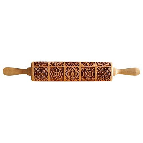 daj Legno goffratura Mattarello Pasta fondente Vintage Pattern Incisione Roller