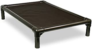 Kuranda Dog Bed - Chewproof Design - Walnut PVC - Indoor - Elevated - High Strength PVC - Easy to Clean - Water Proof - Breathability - Vinyl Weave Fabric