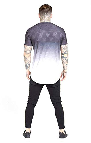 SIKSILK Camiseta Monogram Fade Gym tee (S)