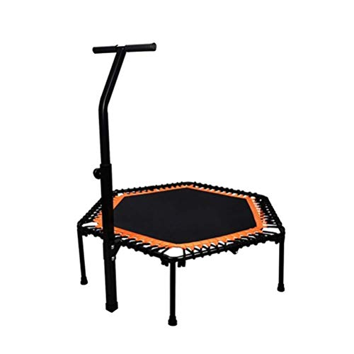 Trampoline Indoor Foldable Rebounder Trampolines Fold Trampoline, Portable Outdoor Adult Aerobic Fitness Rebounder, Safety Adjustable T Type Handle Zero Gravity Mute Bouncer Load: 300kg Workout Cardio