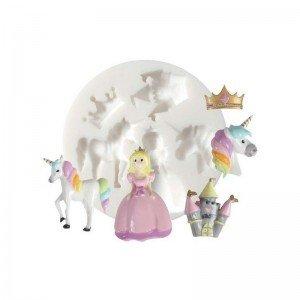 Perlesmania. com 1Mini Molde de Silicona Unicornio Princesa Creations Fimo DTM Ref 284454