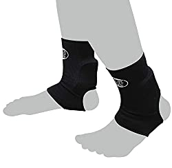 Bay 2X Achilles tendon protection BLACK (L / XL) elastic foot bandages padded fabric BW ankle bandages ankle bandages bandages ankle bandages ankle ankle bandages ankle pads