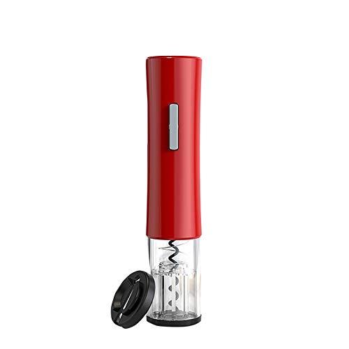 Sacacorchos eléctrico eléctrico automático para botellas de vino con cortador de papel (rojo)