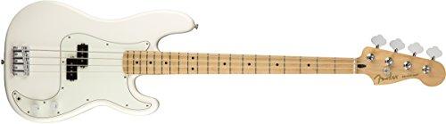 Fender Jugador de precisión bajo eléctrico – Diapasón de arce – Blanco...
