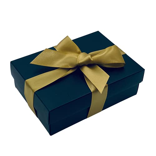 Black Gift Box with Lid   Pick Your Ribbon Colour   Small Flat-Packed Gift...