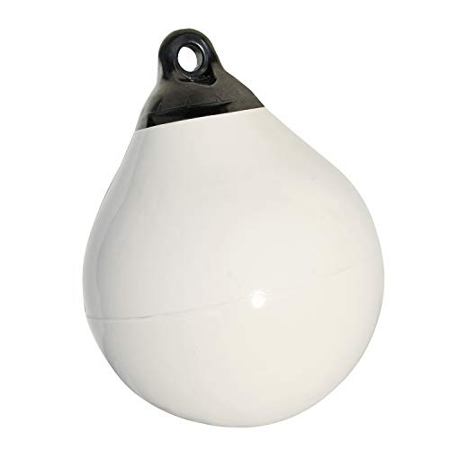 Taylor Made Products 1155 Tuff End Inflatable Vinyl Boat Buoy, White, 27 inch Diameter
