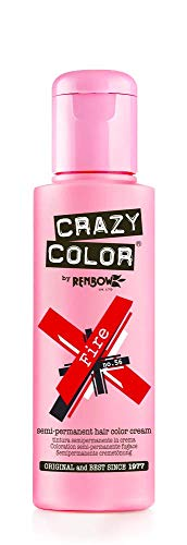 Crazy Color Fire Nº 56 Crema Colorante del Cabello Semi-permanente, Rojo, 100ml (002246)