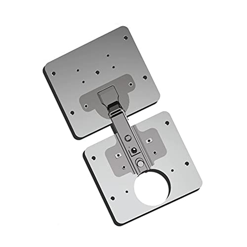 COMEONE Hinge Easy Installation Hinges with Mounting Screws, Hinge Repair Plate Hinge Mounting Plate for Cabinet Furniture Drawer Window Stainless Steel Plate Repair Accessory