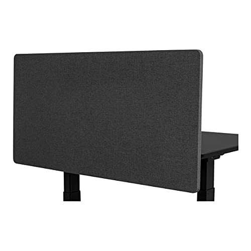Stand Up Desk Store ReFocus Clamp-on Acoustic Desk Divider Privacy Panel That Reduces Noise and Visual Distractions (Ash Gray, 48