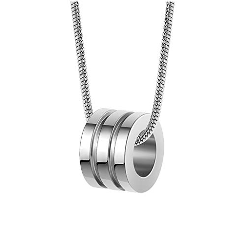 Collar de Mujer Pareja del anillo del collar de la personalidad creativa clavícula cadena tendencia de la moda de joyería hombres y mujeres de oro y plata (dos colores pueden ser seleccionados) Collar