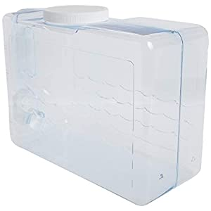 Arrow Home Products 00744 Slimline Beverage Container, 2.5-Gallon, Clear