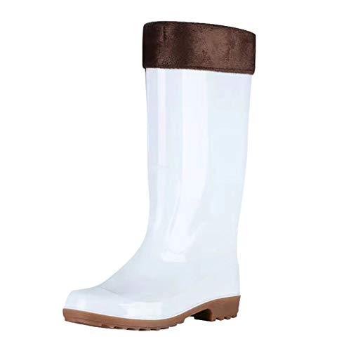 Herren Regenstiefel Kolylong® Männer Winter Warm Gefüttert Lang Stiefel Einfarbig Gummistiefel rutschfest Verschleißfest Ankle Boots Winterstiefel Schlupf-Stiefel