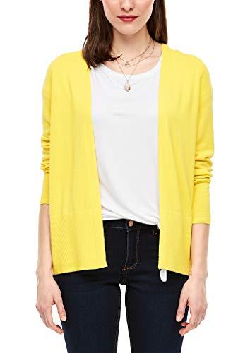 s.Oliver RED Label Damen Strickjacke mit breiter Rippblende Yellow 38