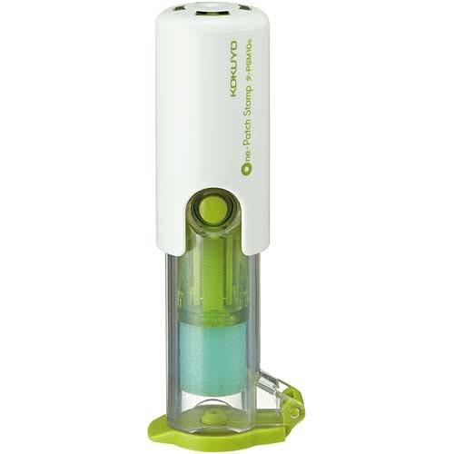 コクヨ ビニールパッチホルダー〈ワンパッチスタンプ〉緑3個