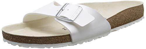 Birkenstock Classic Madrid Birko-Flor Unisex-Erwachsene Pantoletten, Weiß (Weiß), 41 EU