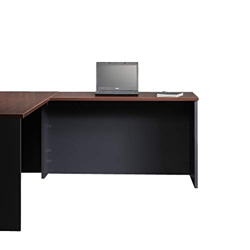 Sauder Via Collection Desk Return, Classic Cherry finish