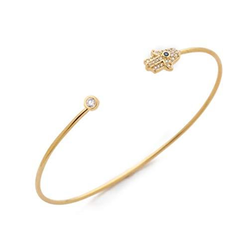 Gszpxf Moda Ajustable Cristal Doble corazón Bowknot Chain & Link Bracelets Mujer Joyería Regalo (Color : Antique Gold Plated)