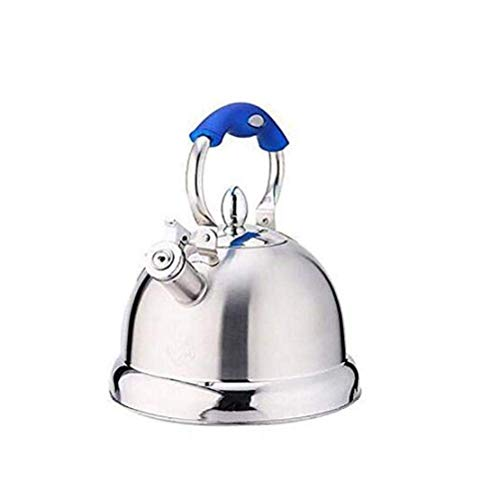 GJJSZ Kettle Edelstahl Whistling Kettle 5L Gas Niture Induktionsherd Gas Universal Kettle,Blau,5L