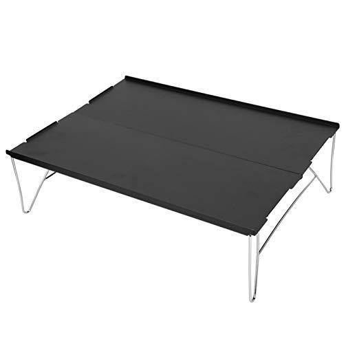 SALUTUYA Mesa Plegable Desmontable para Acampar, aleación de Aluminio, práctica y Que Ahorra Espacio, Picnic, Senderismo, Fiestas en el jardín, Camping