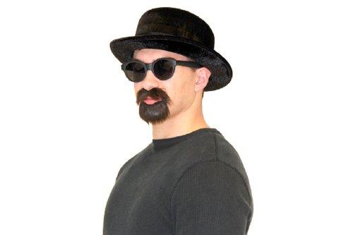 Pork Pie Hat, Beard & Mustache Walter Alias Costume Set