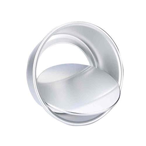 Mingtongli 3pcs 2 Pulgadas de aleación de Aluminio Redonda Mini Torta de Pan extraíble Pudín Fondo del Molde DIY de la Magdalena Molde de la hornada