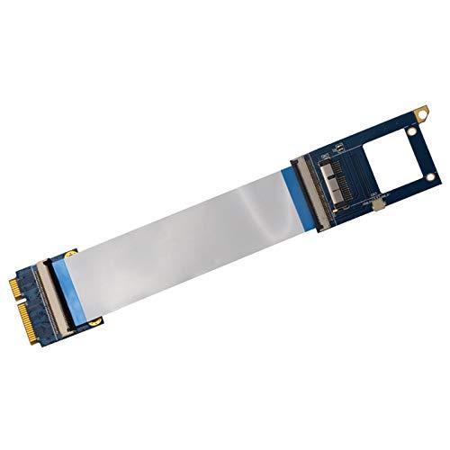 Sara-u Mini PCI-E A BCM94360CD Adaptador de tarjeta de red Extensor flexible Cable de extensión para juego joystick