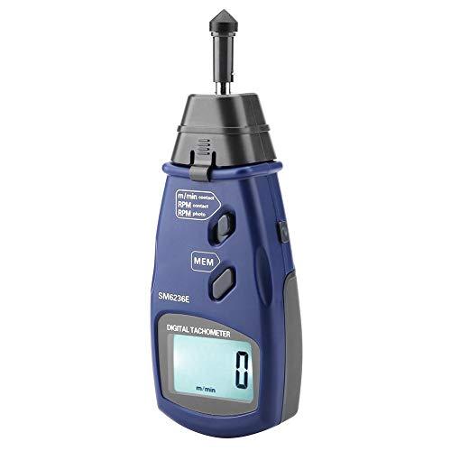 Snelheidsmeter - Professionele digitale SM6236E contact snelheidsmeter 5 cijferige 18mm digitale LCD toerenteller tester