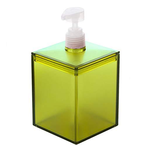 Hemoton Plastic Lege Reiszeephouder Hervulbare Zeepfles Minipomp Fles Voor Reisshampoo Vloeibare Zeep (Transparant Groen)