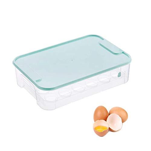24 Celdas Envase Para Huevos Caja,Caja Con Tapa Huevera Plástico,Huevera De Huevos, Caja De Almacenamiento De Huevos,Contenedor Transparente,Para Nevera Cocina Organizador De Huevos Contenedor