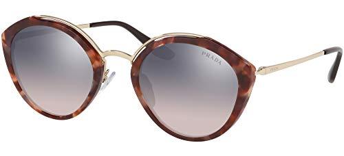 Prada 0PR 18US Gafas de sol, Pink Havana/Pale Gold, 53 para Mujer
