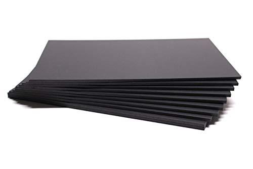 Chely Intermarket carton pluma negro A3 con espesor de 5mm/10 unidades/foam board rectangular para manualidades, foto o soporte (542-A3*10-0,95)
