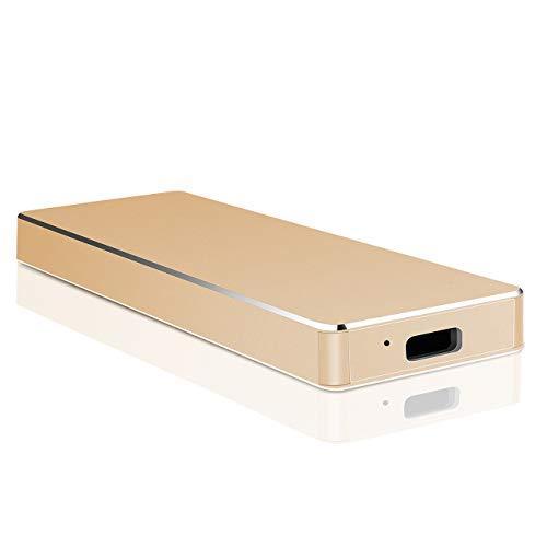 Externe Festplatte 2tb, USB 3.1 Externe Festplatte Backups HDD Tragbare für PC, Xbox One, Desktop, Laptop, Xbox 360.(2TB,Golden)