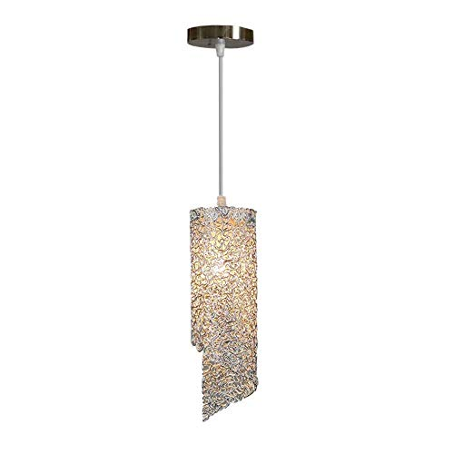 CAIMEI Luz Colgante Lámpara Colgante de Plata Pasillo de Altura Ajustable Sombra de Metal de Aluminio Pasillo de Techo E27 Lámpara Colgante de Luz Galerías